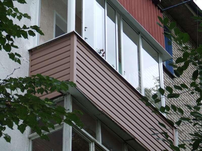 Внешняя и наружная отделка балкона и лоджии своими руками.