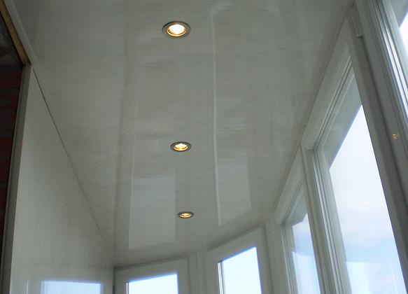 Освещение на балконе недорого от балконстроймастер.